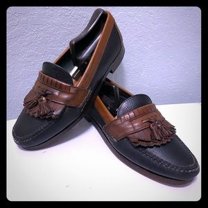 HS Trask Mens Kiltie Loafers Size 8 M Black Brown